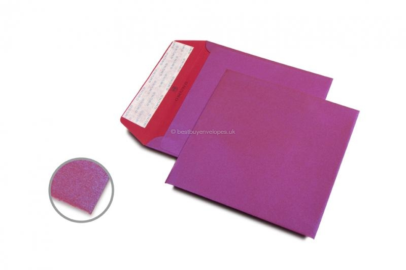 Gmund Reaction Collection envelopes - Pink: Purple Rain Red
