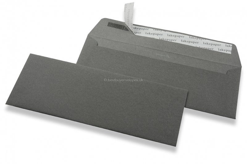 Gmund Lakepaper The Kiss envelopes - Anthracite: Neck