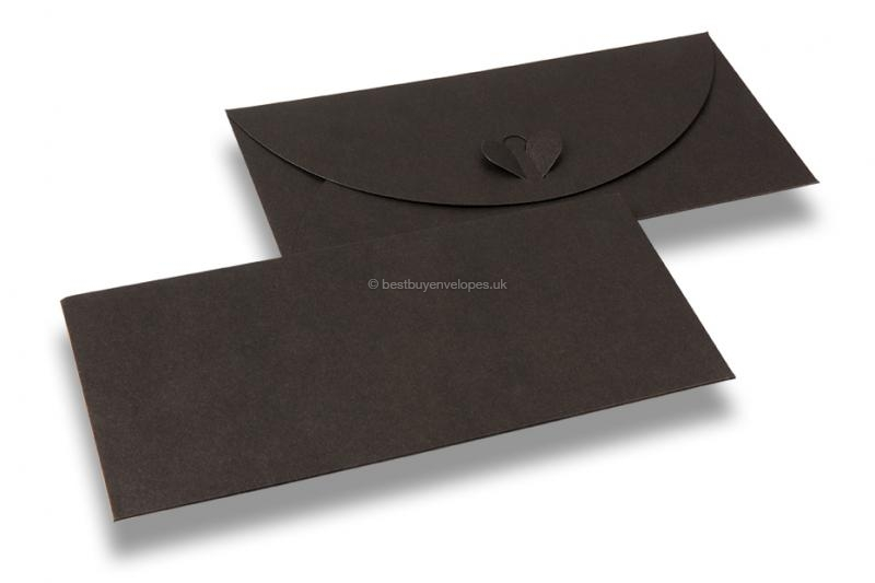 Envelopes with heart clasp - Bronze