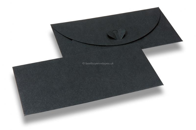 Envelopes with heart clasp - Dark grey