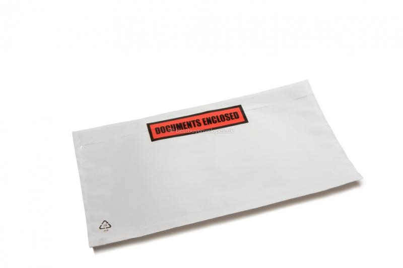 Packing list envelopes with printing - DL