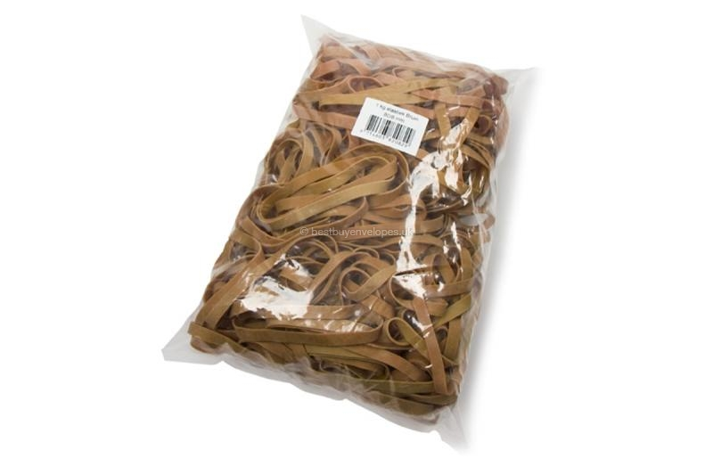 Elastic bands: Bag, contents 1000 grams (illustration shows the wide bands: 80 x 8 mm)