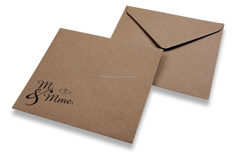 Wedding envelopes - Brown + m. & mme.