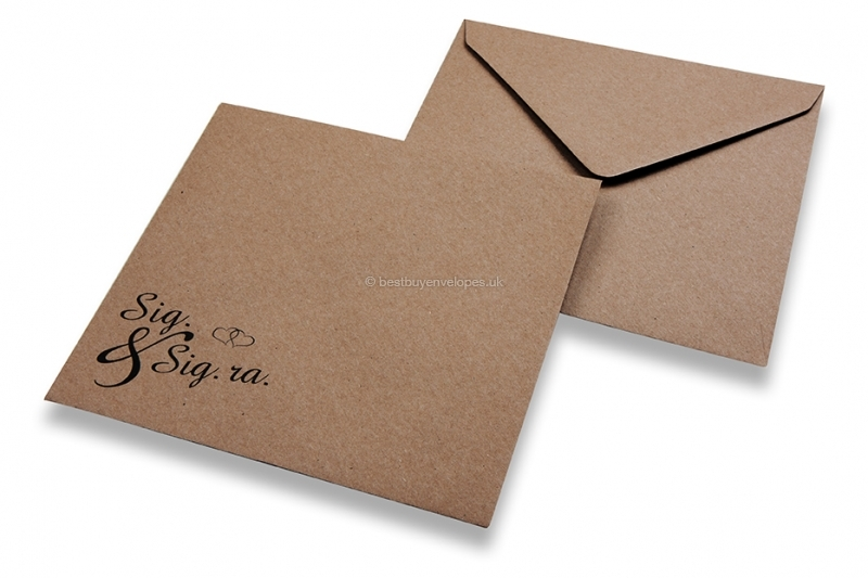 Wedding envelopes - Brown + sig & sig.ra.