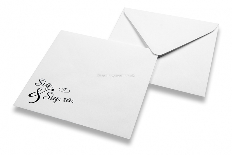 Wedding envelopes - White+ sig. & sig.ra.