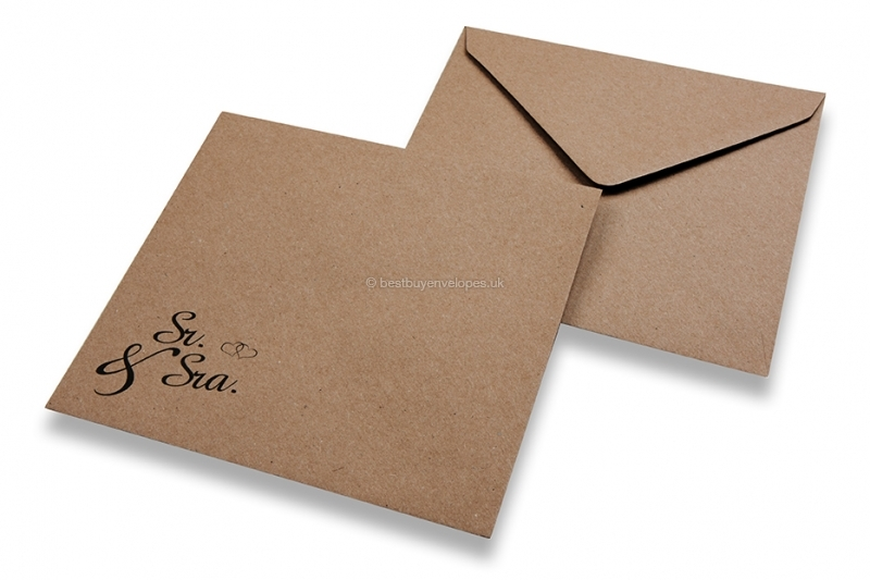 Wedding envelopes - Brown+ sr & sra.