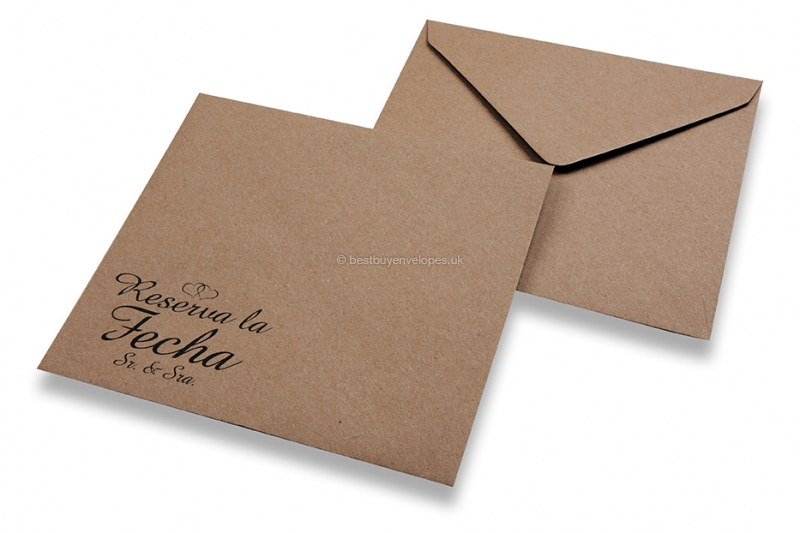 Wedding envelopes - Brown + reserva la fecha