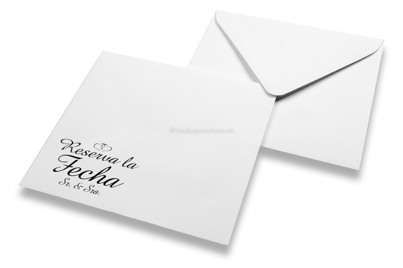 Wedding envelopes - White + reserva la fecha