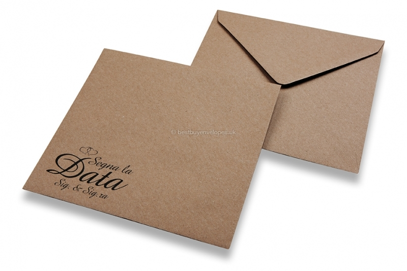 Wedding envelopes - Brown + segna la data